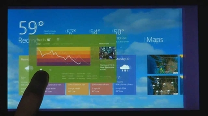 Weather app running on windows 8